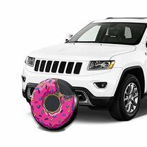 CENSIHER Donut Pattern Spare Tire Cover Polyester Waterproof Universal Spare Whe image 6