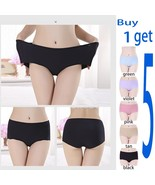 5-Pack Women Plus Size Bikini Panties Seamless No-Show Panties Line Unde... - $15.89