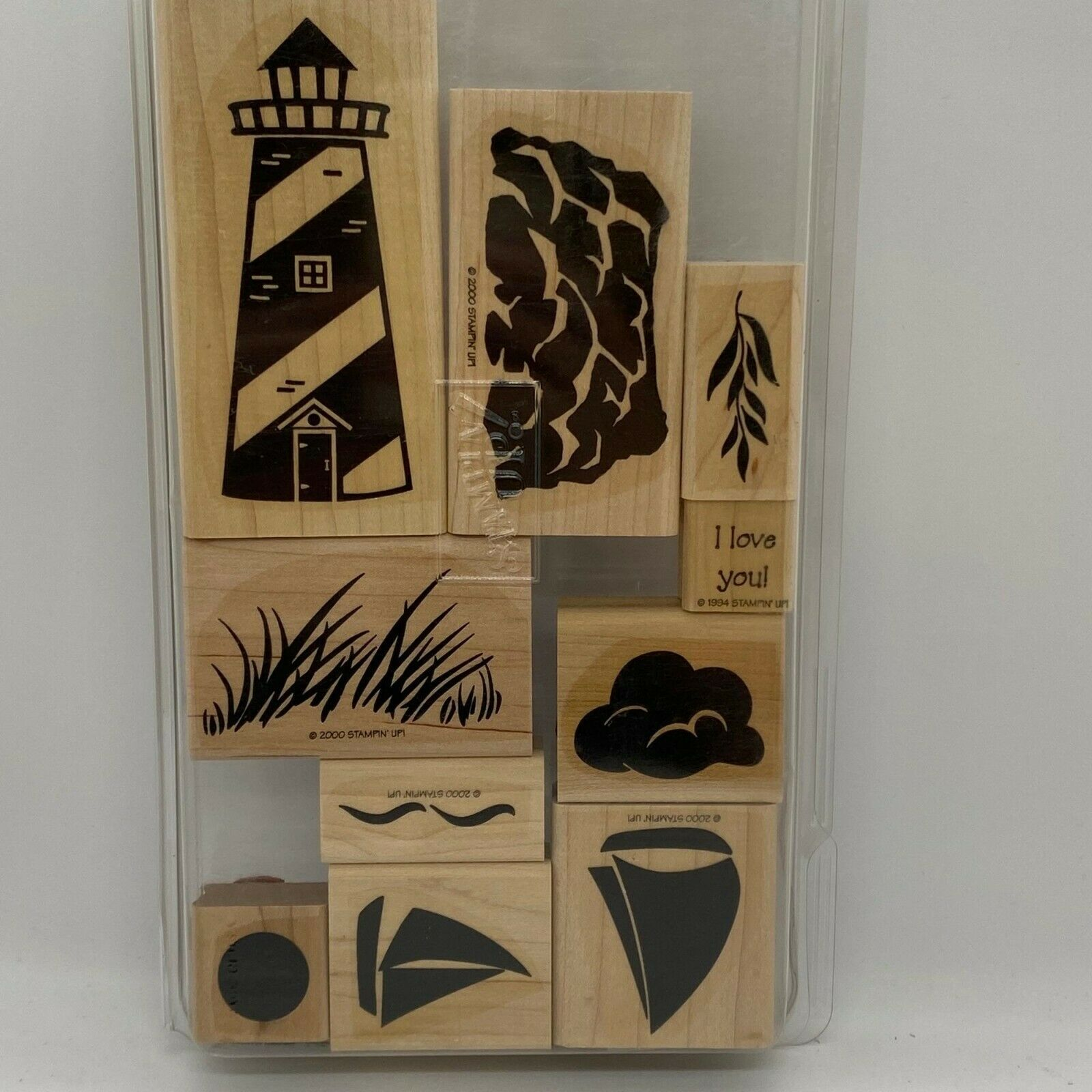 Primary image for Stampin' Up! Definitely Decorative Lighthouse Wood Mounted Stamp Set