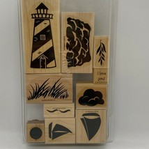 Stampin' Up! Definitely Decorative Lighthouse Wood Mounted Stamp Set - $7.68