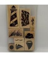 Stampin' Up! Definitely Decorative Lighthouse Wood Mounted Stamp Set - $7.68