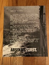 Absolut Furst Original Magazine Ad - $2.99