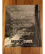 Absolut Furst Original Magazine Ad - $2.99