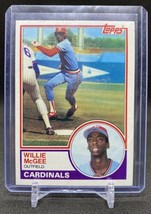 1983 Topps Willie McGee Rookie Card #49 St. Louis Cardinals MLB RC NM-MT - $10.88