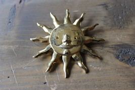 Vintage Gold Tone Sun Brooch by JJ - $5.93