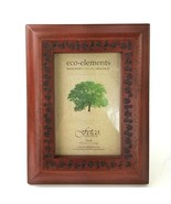 Wooden Mahogany Reddish Brown Floral Engraved Picture Frame 4x6 Photo NW... - $13.99