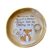 PUDDING CABIN Fox Ring Dish Holder Jewelry Trinket Tray - You Make The W... - $16.90