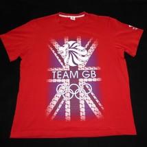 Olympics Team Great Britian GB Short Sleeve Red Graphic T Shirt Mens XL ... - $14.84