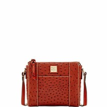Dooney & Bourke Ostrich Lexington Crossbody Cognac