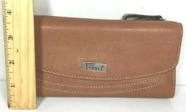 Fossil Brown Leather Clutch Wallet image 8