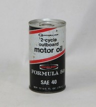 Vintage FULL Can MERCURY QUICKSILVER 2 Cycle Outboard Motor Oil Formula5... - $8.41
