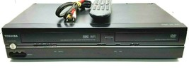 Toshiba SD-V296-K-TU DVD VCR Combo Player with OEM Remote, A/V Cables, Tested - $241.88