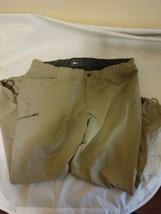 REI Men's Hiking Cargo Pants XL 30 Long Lightweight Flat Front Nylon Kha... - $18.91