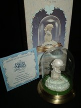 """Precious Moments """"Summer's Joy"""" Pewter Figurine with Glass Dome - $18.94"""