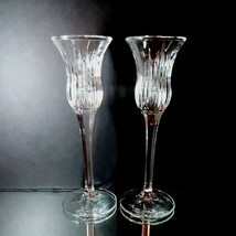 2 (Two) MIKASA ICICLES Lead Crystal Single Candle Holders DISCONTINUED P... - $15.19