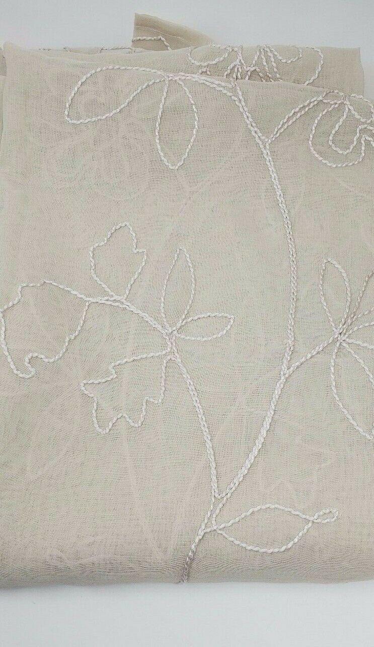 Laura Ashley Beige Color Curtains, 2 pcs Set - $22.99