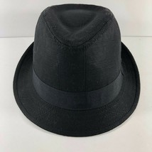 Vintage DPC Authentic cotton linen Black Fedora Hat sz L Handmade Headwear - $24.74