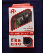 Fine Life Audio Products His & Hers Ear Bud Set Headphones - New - Red - $12.34