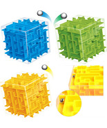 8*8cm 3D Magic Cube Maze Labyrinth Rolling Ball Educational Toys Puzzle ... - $9.45