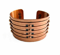Vintage Wide Copper Cuff Bracelet - $65.00