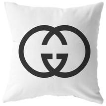 Gucci Logo - Gucci Pillow and Pillow Insert, Square Throw Pillow, Decora... - $347,73 MXN+