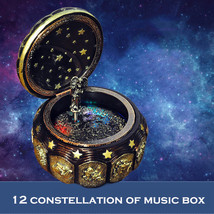 Retro Vintage Luminous Music Box 12 Signs of Zodiac Birthday Gift box Pr... - $129.99