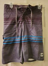Ocean Current Boys Board Shorts Multicolor Striped Size L - $11.26