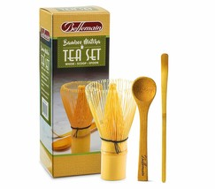 Bellemain 3-Piece Bamboo Matcha Tea Set Includes Whisk Chasen, Scoop and... - $15.20