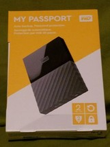 WD Western Digital My Passport 2TB External Hard Drive USB 3.0 BLACK - B... - $65.00