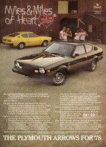 1978 Chrysler Plymouth Arrow Car Automobile Advertisement Vintage Print Ad 70s - $8.35