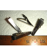 VTG MR K ENGRAVEABLE STERLING SILVER DIAMOND CUT TIE BAR CLIP GROOMS WED... - $367.99