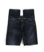 Silver Aiko Womens Jeans Size 28 Dark Wash Slim Boot Stretch Denim  - $52.13