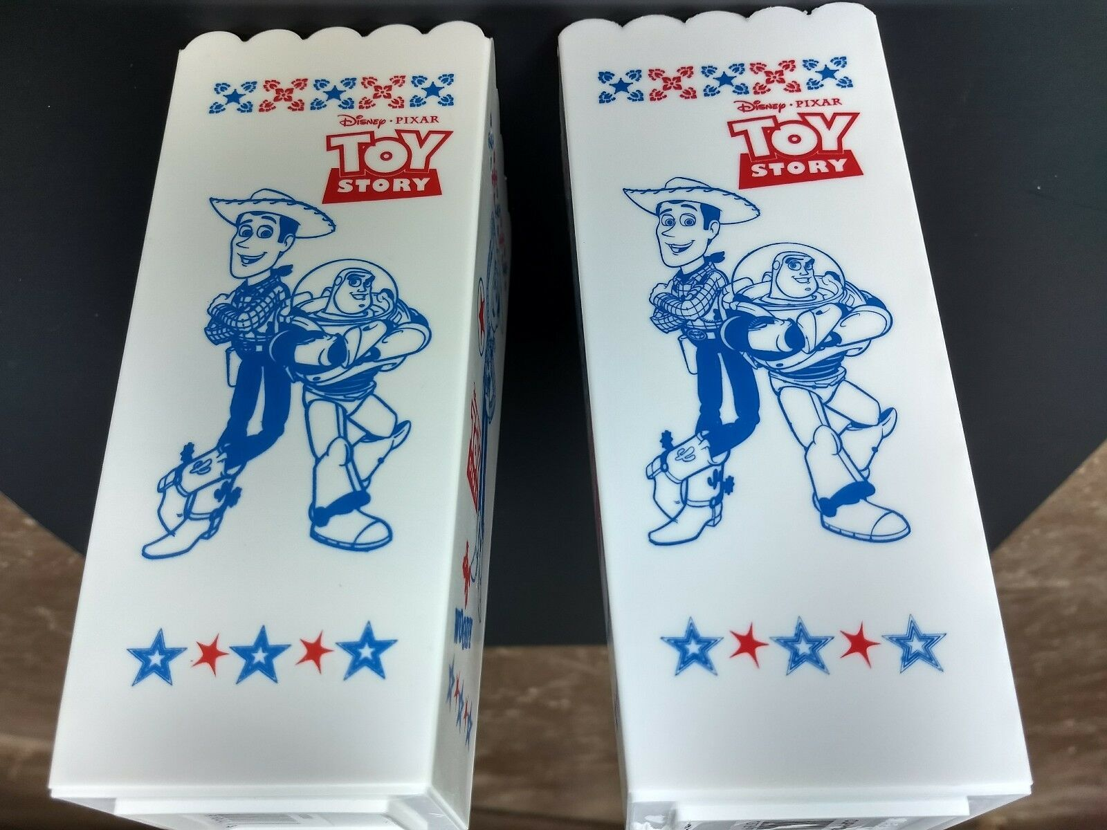 Walt Disney Pixar Toy Story movie plastic popcorn containers Woody Jessie Buzz image 2