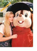 Josie Davis Alyssa Milano teen magazine pinup clipping hugging chip n dale