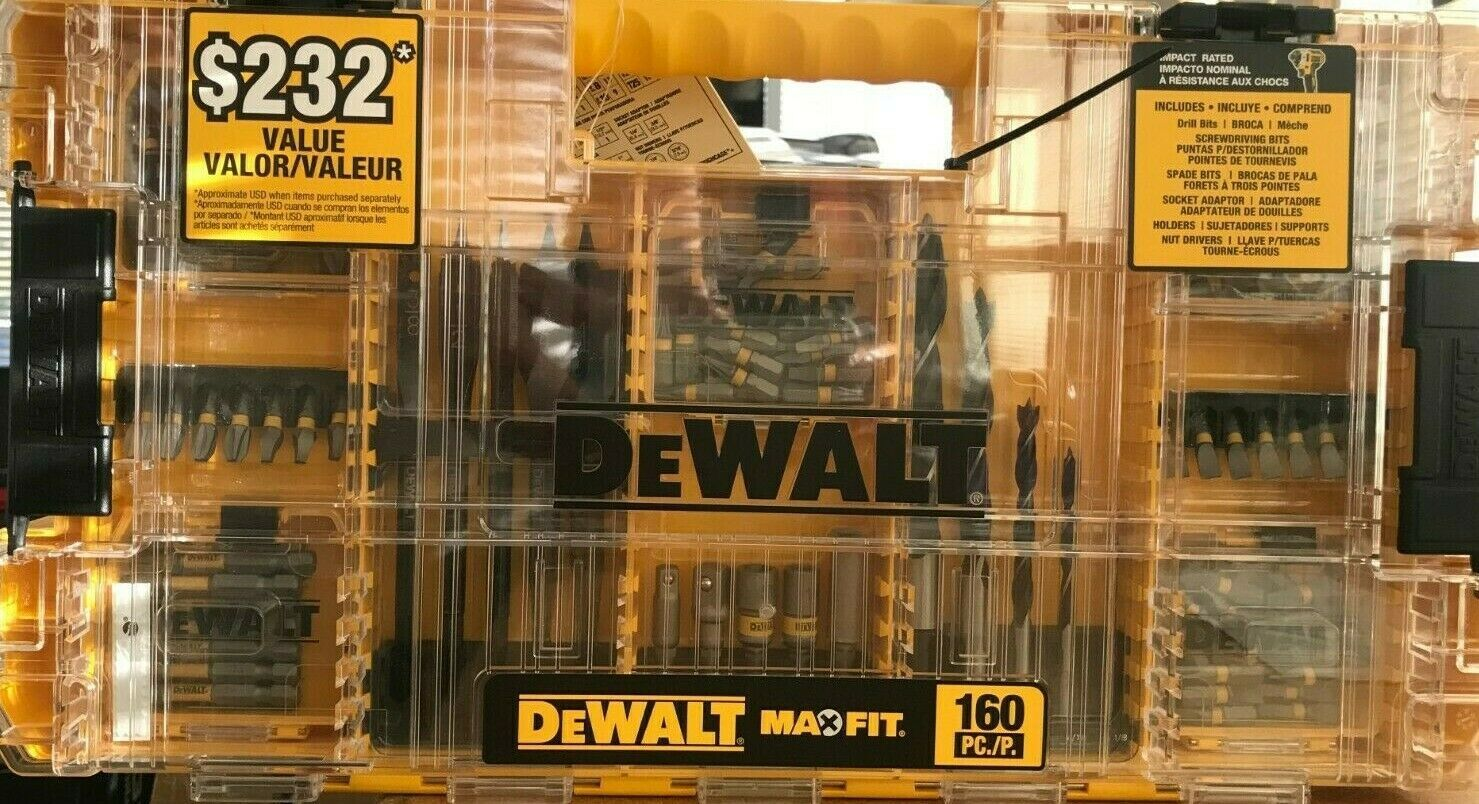 Primary image for DeWalt - DWAMF160 - MAXFIT Steel Drill and Driving Bit Set - 160-Piece