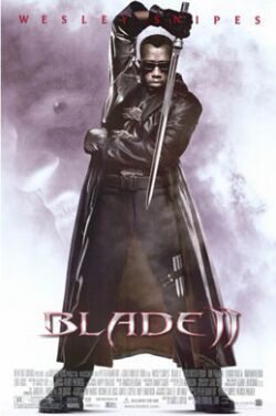 2002 BLADE II (2) Wesley Snipes Vampire Movie Poster Motion Picture Promo  13x20