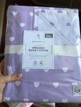 Pottery Barn Kids Heart Duvet Cover Lavender Queen 2 Standard Shams Purp... - $140.00