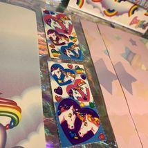 ⚡️SALE  Markie The Unicorn Lisa Frank Stationery Lot  Postalettes Stickers image 4