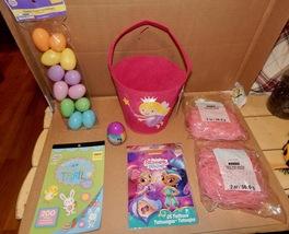 Easter Mix Lot 7 Items Felt Basket Tattoos Grass & Eggs Activity Stickers 163S - $12.49