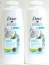 2 Dove 20.4 Oz Nourishing Rituals Coconut Water Sweet Lime Hydration Conditioner - $27.99
