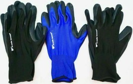 Wells Lamont 5 Confezione da Uomo Schiuma Lattice Lavoro Guanti Medio Blu E Nero image 2