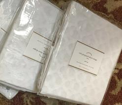 Pottery Barn Set 2 Cala Drape 44x96L White Curtains Pair Ikat New - $99.00