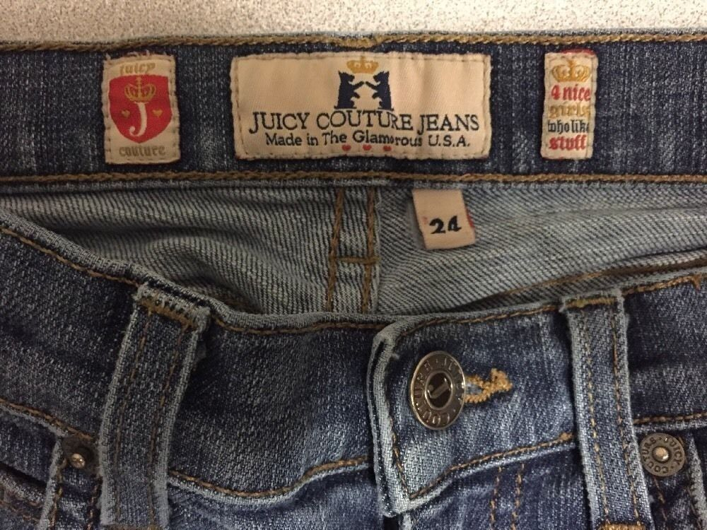 Juicy Couture Jeans Girls Size 24 Distressed Boot Cut image 5