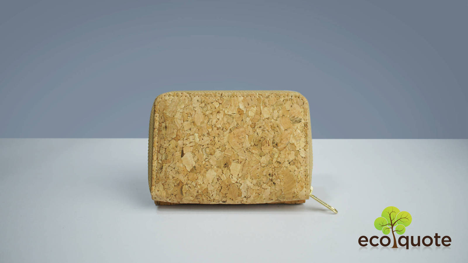 EcoQuote Compact Wallet Handmade Cork Material Eco Friendly great for Vegan