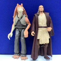 Star Wars action figure toy vintage Kenner 1999 Qui Gon Jinn Jar Binks mixed lot - $17.30