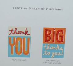 Hallmark WWZ1007 Thank You Cards 5 Each of 2 Designs Pkg 10 image 3