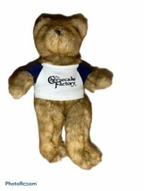 "Cheesecake Factory Teddy Bear Tan 15"" Plush Stuffed Animal Blue Shirt Fi... - $14.99"