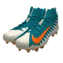 Nike Alpha Menace Pro Mid Football Cleats Miami Dolphins 915414-117 Mens... - $23.75