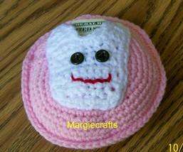 Tooth Fairy Pillow, Money Holder, Crochet Tooth, Handmade Pillow, Tooth ... - $15.00