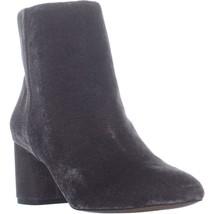 Franco Sarto Jubilee Zip Up Block Heel Ankle Boots, Grey, 8 US / 38 EU - $55.67